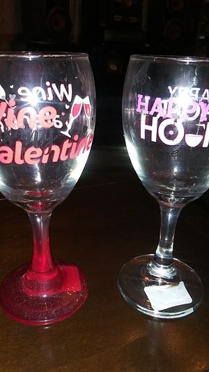 Valentine Wine glasses for Sale in Pueblo, CO