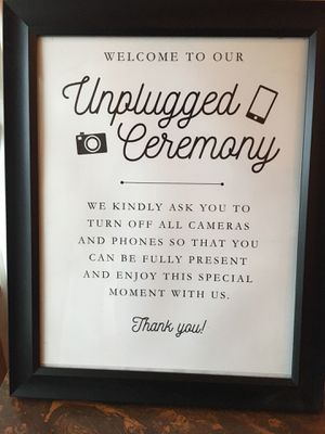 Wedding Sign Unplugged Ceremony 16x13 in for Sale in Blythewood, SC