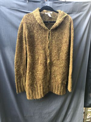 Free people mohair & acrylic brown & green toggle button up sweater size medium Cardigan jacket coat for Sale in Portland, OR