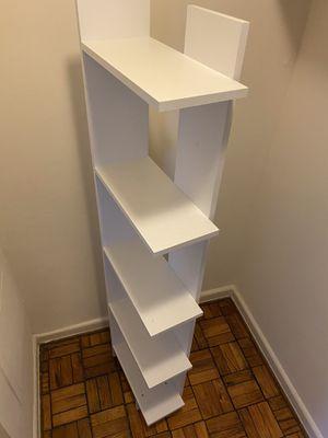 White modern bookshelf for Sale in Rockville, MD