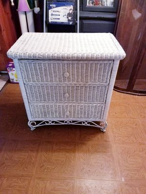 Beautiful Rattan Wicker Chest With Wrought Iron Bottom for Sale in Virginia Beach, VA