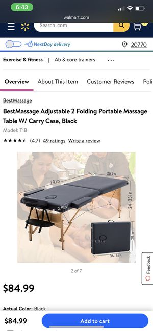 Massage Table for Sale in Washington, DC