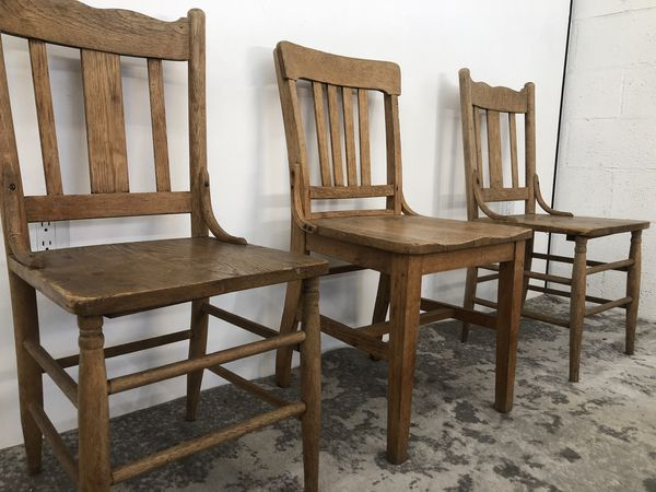 Vintage Solid Oak Chairs
