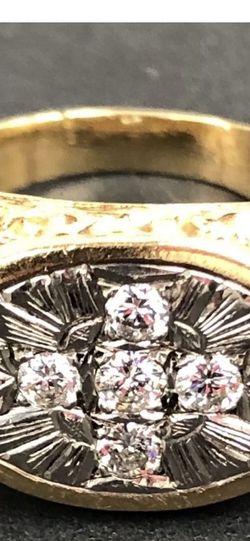 14K Gold Diamond Ring Size 11-12 for Sale in Miami,  FL