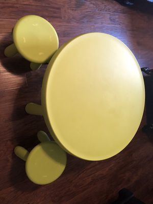 Kid table with two stools for Sale in Mesquite, TX