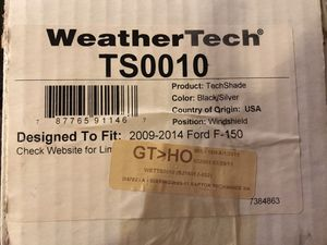 WeatherTech TS0010 TechShade Windshield Sun Shade for Sale in Deer Park, TX