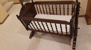 Baby crib hardwood for Sale in Columbus, OH