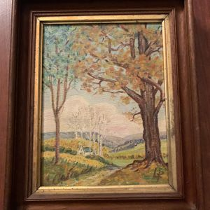 Vintage Painting in Antique Victorian Walnut Frame for Sale in Tacoma, WA