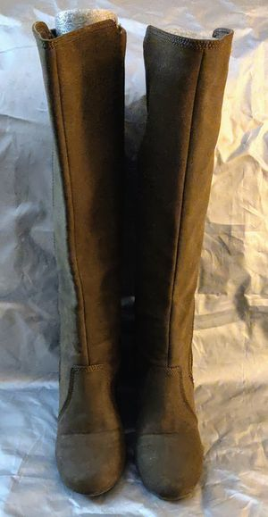 Boots-Fergalicious Tall Brown wedge boots size 8.5M for Sale in TN OF TONA, NY