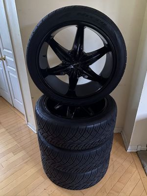 4 Helo HE866 22x9.5 10 Rims+4 Nitto NT420S 275/40R22 108 V Tires Bolt Pattern 5 x 127 5 x 120 Low mileage for Sale in Romeoville, IL