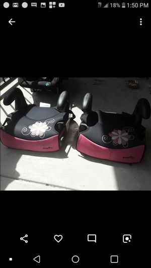 One Infant Carseat & Two Booster Seats for Sale in Grand Prairie, TX