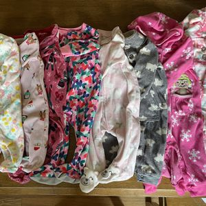 Baby Girls Clothes Clothing Lot 3 6 9 Months Carter's Sleepers Outfits for Sale in Methuen, MA