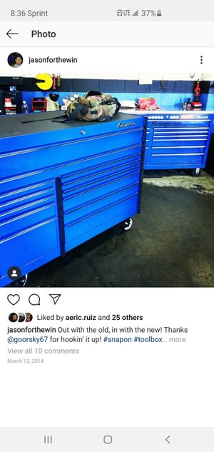 SNAP ON TOOL BOX KRL1022 ROYAL BLUE for Sale in Moreno Valley, CA