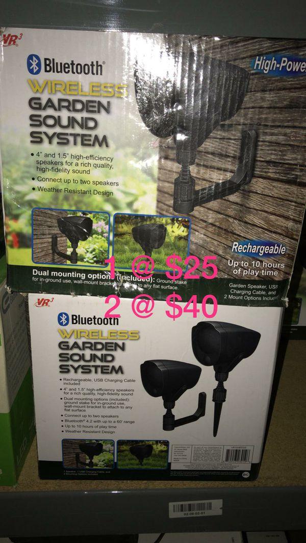 High power bluetooth wireless garden sound system 2 for$40