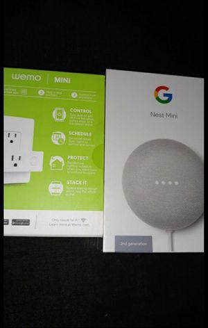 Google nest mini and wemo mini for Sale in Riverside, CA