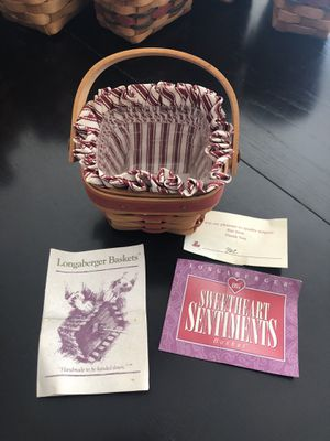 Longaberger 1995 Sweetheart Sentiments basket for Sale in Clearwater, FL