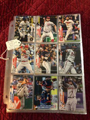 Starter lot of 2020 topps baseball cards with stars for Sale in Beltsville, MD