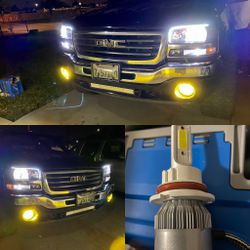 3000k 6000k 8000k LED Headlights And Fog Light Leds For Any Vehicle for Sale in Fontana,  CA