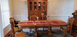 Solid oak dining room set for Sale in Haymarket, VA