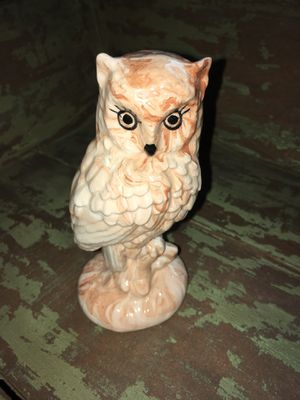 "5.5"" Hand Crafted Alaska Native Clay Signed Pottery Owl Figurine for Sale in Citrus Heights, CA"