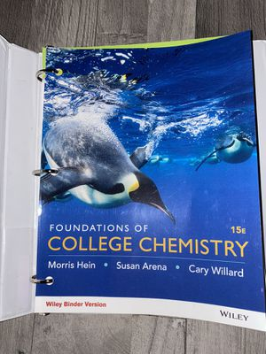 Foundations of College Chemistry 15E for Sale in Industry, CA