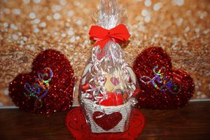 Valentine's basket gifts for Sale in Durham, NC