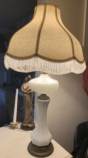 Antique milk glass lamp for Sale in Eureka, MO