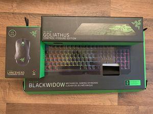 Razer keyboard+mice+pad set for Sale in Phoenix, AZ