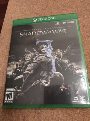 Middle-Earth Shadow Of war Xbox one game for Sale in Anaheim, CA