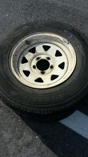 Trailer tires 2 size 205/75/14 for Sale in Pompano Beach, FL