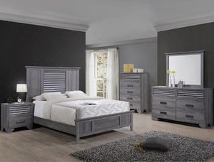 Bedroom set Queen bed +Nightstand +Dresser +Mirror. Mattress not included for Sale in Hawthorne, CA