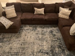 Microfiber Suede Sectional Sofa for Sale in Chandler, AZ