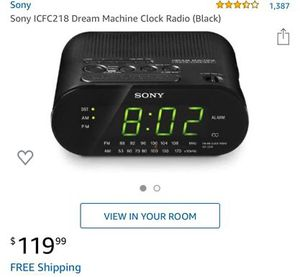 Sony Clock Radio for Sale in Wichita, KS