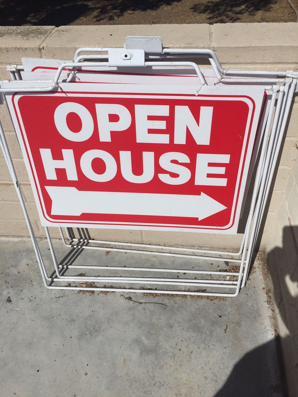 Open House Signs with sturdy A Frame
