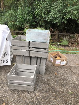 Crates used at rustic wedding for Sale in Marysville, WA