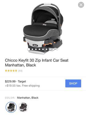 CHICCO KEYFIT 30 ZIP INFANT CAR SEAT MANHATTAN. BLACK for Sale in San Francisco, CA