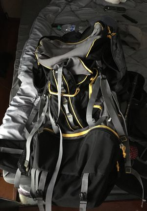Jan sport backpacking backpack used once back bag hiking for Sale in Independence, OH