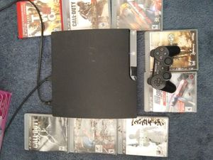 ps3 with 8 games and two controllers for Sale in North Platte, NE