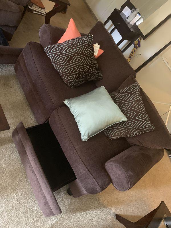 Living Room Set w/ Storage Draws - Gently Used/Like New