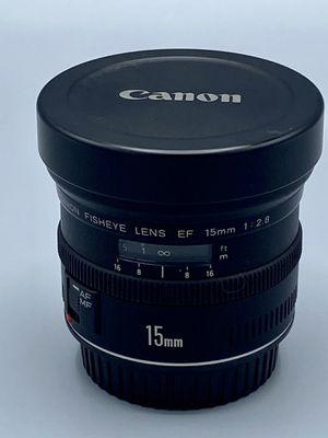 Like new!! CANON 15 mm 2.8 FISHEYE Lens for Sale in Jupiter, FL