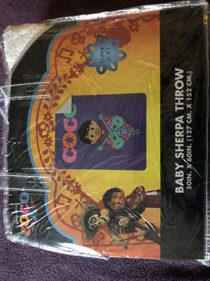 Kids Blankets with Sherpa inside - Coco, Moana, Toy Story, Princess, Spider-Man, for Sale in Fountain Valley, CA