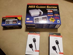 Authentic Nintendo NES Classic extra controller extra extension cords for Sale in Central Falls, RI
