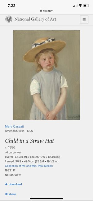 Child in a straw hat artwork for Sale in Binghamton, NY