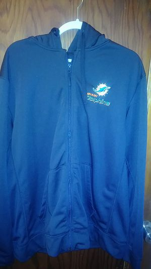 NFL Team Apparel Men's Miami Dolphin hoodie. for Sale in Wichita, KS