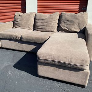 Black Friday   COSTCO Fabric Sofa Chaise, Brown   LIKE NEW   🔥$50 DOWN for Sale in San Diego, CA