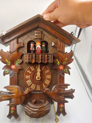 "Anton Schneider 15"" Musical Bird Black Forest Cuckoo Clock 8 Day Dancers Germany for Sale in Torrance, CA"