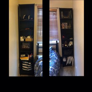 Two 6ft 9in Tall Black Shelves Set!!! for Sale in San Diego, CA
