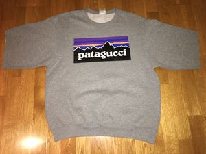 PATAGUCCI Sweatshirt Short Sleeve Size M Gucci Patagonia for Sale in Agoura Hills, CA