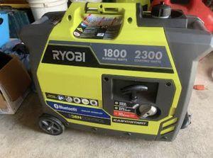 Ryobi 2300 inverter generator. Bluetooth 20 hours like new for Sale in Battle Ground, WA