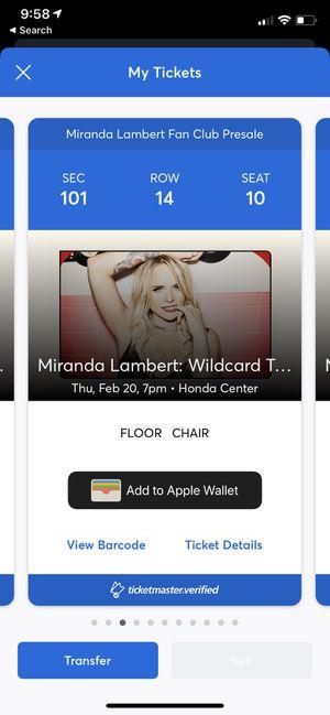 Miranda Lambert Concert Tickets for Sale in Huntington Beach, CA